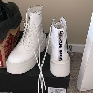 Naked Wolfe Mayfair White Leather